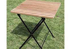 折り畳みアイアンチークテーブル (34219)