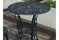アルミ鋳物テーブル(中) 1台 (13044)