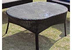 オーバルガラステーブルNH-2072-1Z (38716)