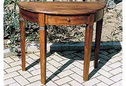 引出し付きハーフラウンドテーブル (35236)