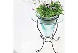 手作りガラス花器U型 (34224)