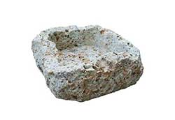 大谷石割肌鉢 U-1型 (35701)