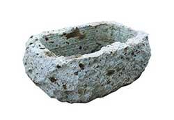 大谷石割肌鉢 U-3型 (35703)