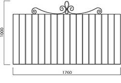 フレンチフェンス本体1708 (34152)
