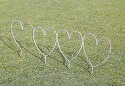花壇フェンス ハート型 (35330)