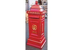 ヨーロピアンメイルボックス 赤 (35001N)