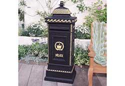 ヨーロピアンメイルボックス 黒 (35002N)