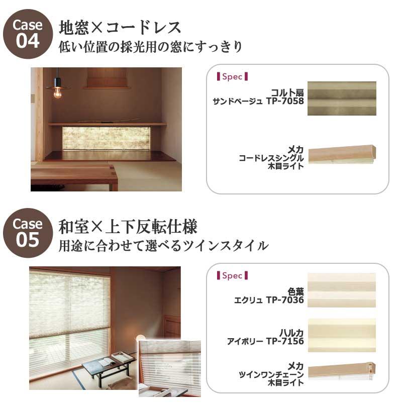 低い位置の採光用の窓に、地窓、コードレス、用途に合わせて選べるツインスタイル、